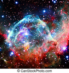 éléments, extérieur, meublé, ceci, image, nébuleuse, space., clair, nasa, étoiles