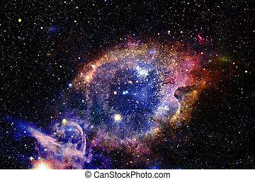 éléments, extérieur, meublé, ceci, image, space., nasa, étoiles, galaxie