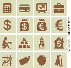 éléments, finance, vecteur, conception