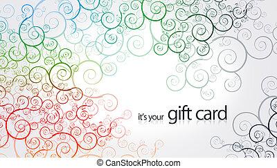 éléments floraux, -, carte don