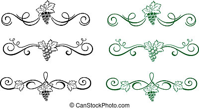 éléments floraux, raisin