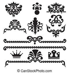 éléments, gothique, conception