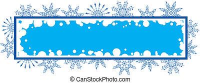 éléments, grunge, cadre, flocon de neige, vecteur, conception