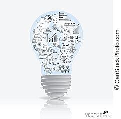 éléments, illustration., lumière, graph., vecteur, ...