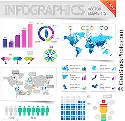 éléments, infographic, conception