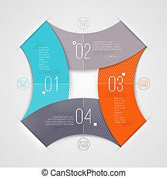 éléments, infographic, numéroté