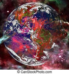 éléments, meublé, ceci, image, espace, nasa, earth., art.