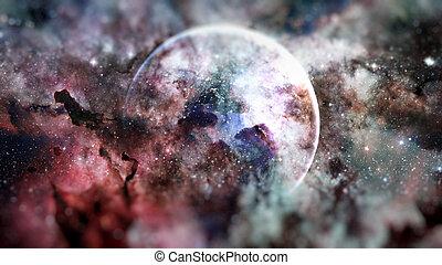 éléments, meublé, ceci, image, galaxies, space., nasa., la terre