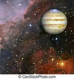 éléments, meublé, ceci, image, planète, nasa, jupiter.