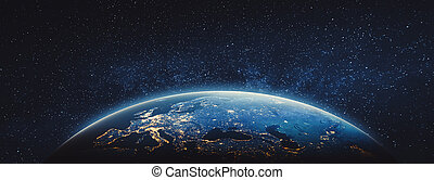 éléments, meublé, ceci, image, -, planète, nasa, la terre, europe.