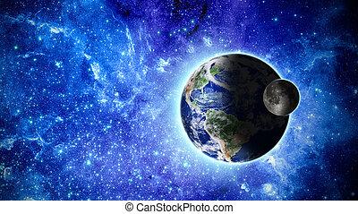 éléments, meublé, ceci, image, planète, nasa, la terre