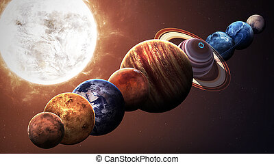éléments, meublé, ceci, image, système, isolé, nasa, planets., solaire, hight, qualité