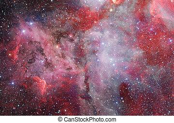 éléments, meublé, ceci, impressionnant, nébuleuse, space., nasa., étoiles, image