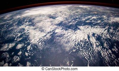 éléments, meublé, ceci, iss., nasa., planète, vidéo, la terre, vu