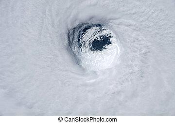 éléments, meublé, ceci, ouragan, image, michael, space., nasa