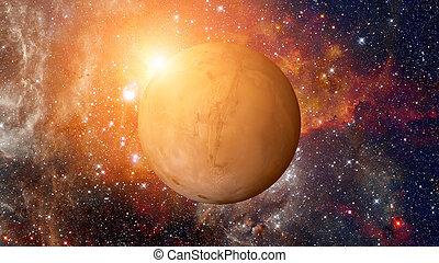 éléments, meublé, system., image, planète, ceci, nasa, solaire, mars
