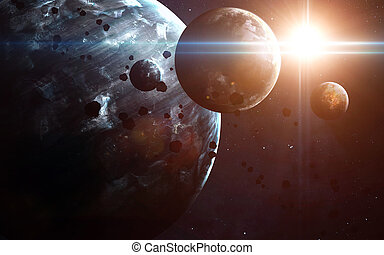 éléments, nebulae, meublé, ceci, sur, space., nasa, planètes, image