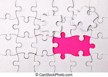 éléments, non, puzzle, là, deux, vide
