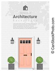 éléments, porte, architecture, fond, devant, 20