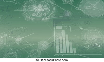 éléments, résumé, arrière-plan vert, infographics, constitué