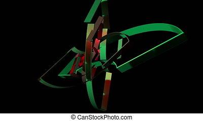 éléments, résumé, mouvement, géométrique, transformation, 3d
