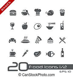 //, élémentsessentiels, icônes, nourriture, -, 1, ensemble, 2