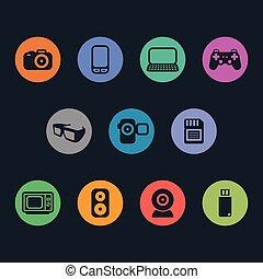 élémentsessentiels, multimédia, icons.