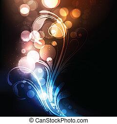 élénk, elvont, színes, fényes, vektor, háttér