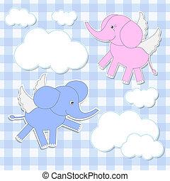 éléphants, anges