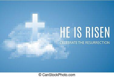 él, es, risen.