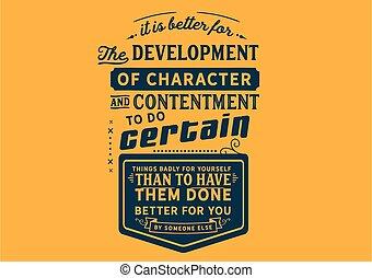 él, mejor, desarrollo