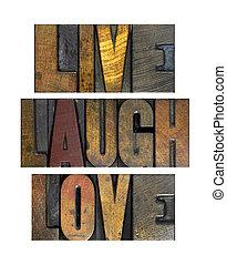 él, nevet, szeret