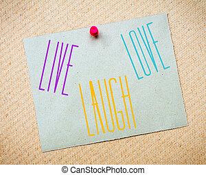él, szeret, üzenet, nevet
