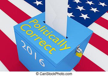élection, concept, politically, correct