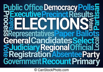 élections, mot, nuage