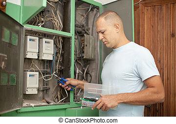 électricien, électrique, fonctionnement