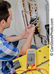 électricien, câblage