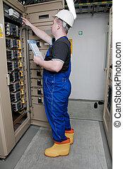 électricien, distribution, électrique