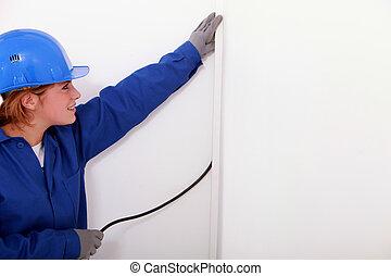 électricien, femme