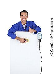 électricien, tenu, équipement