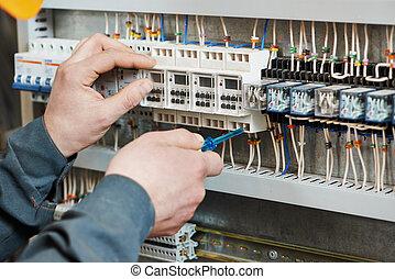 électricien, travail