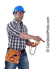 électricien, voltmètre