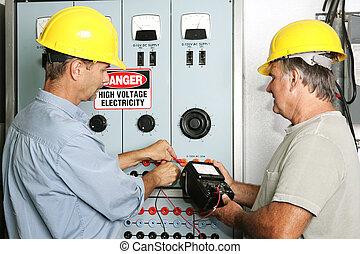 électriciens, industriel