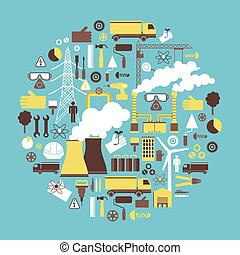 électricité, concept, énergie, dessin industriel
