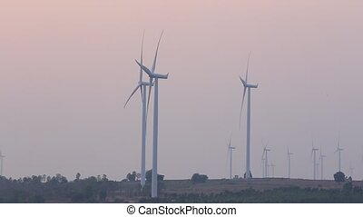 électricité, générer, turbines, vent