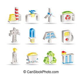 électricité, industrie, puissance