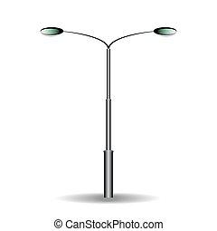 électricité, lampe, rue