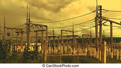 électricité, ligne transmission, 3