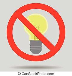 électricité, lumière, sauver, fermé, signe