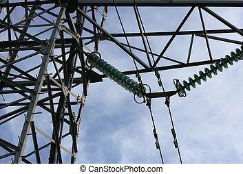 électricité, mât